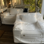 Outdoor furniture, 2 new RH all weather chairs